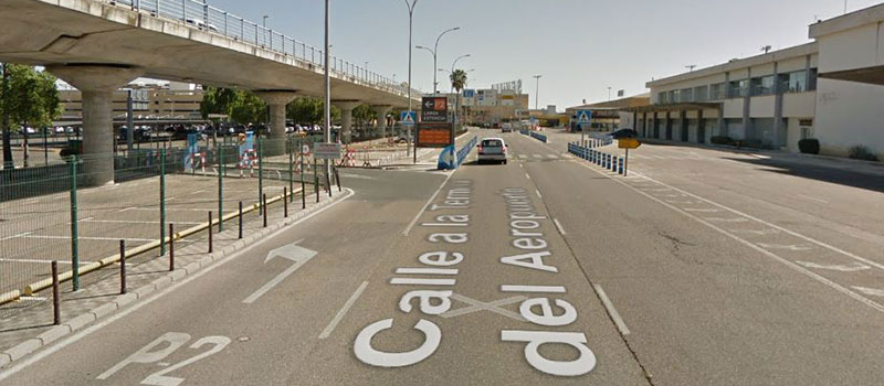 Long term parking area Seville airport
